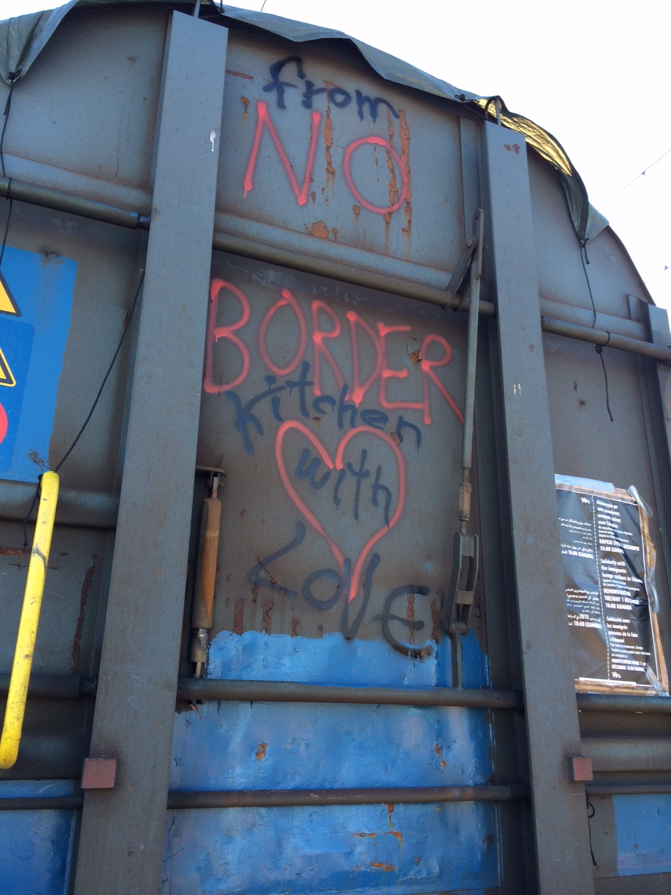No Border-Train-Kitchen Idomeni